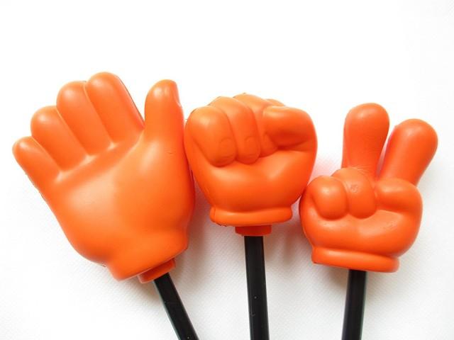 指し棒 (ジャンケン) グー チョキ パー 3本セット オレンジ
