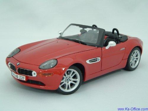 【BMW】Z8(レッド) 1:18モデルカー(ミニカー)