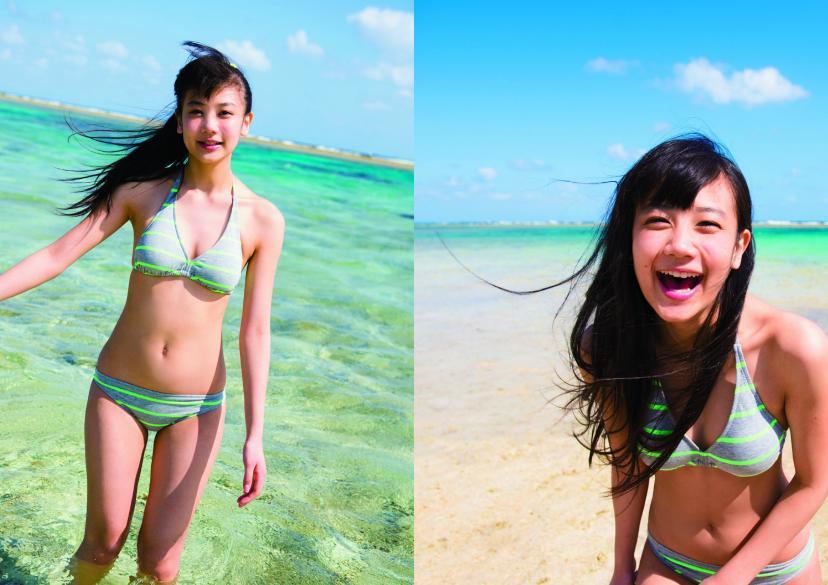 清水富美加の水着姿(SHIMIZU FUMIKA 1st Photobook 清水富美加より)