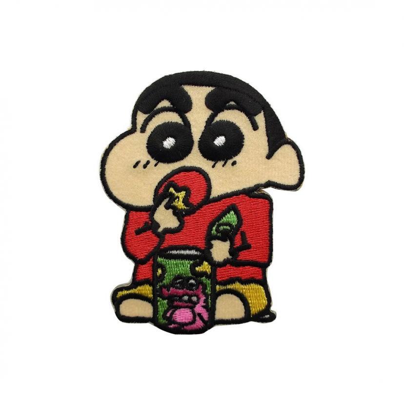 クレヨンしんちゃん チョコビ アイロン ワッペン 約6.5cm x 8.5cm KYAP349
