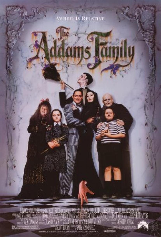 Addamsファミリーポスター27x40 Anjelica Huston Raulジュリアクリストファー・ロイド