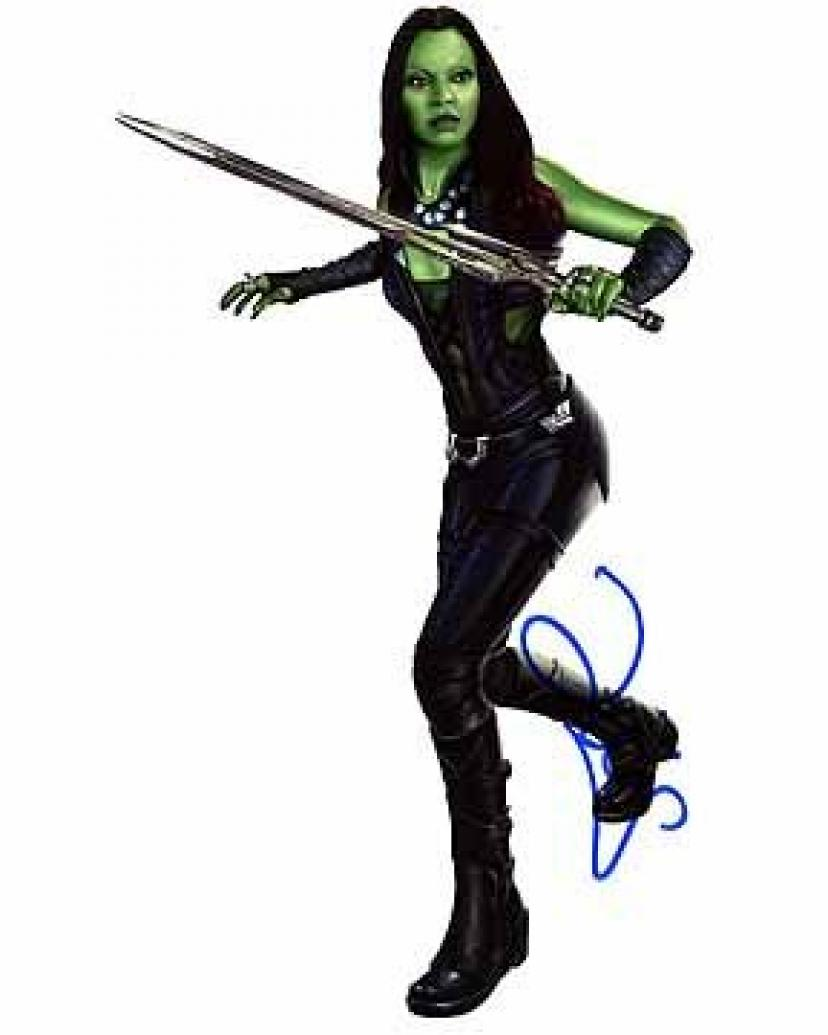 ZOE SALDANA (Guardians of the Galaxy) 8x10 Female Celebrity Photo Signed In-Person