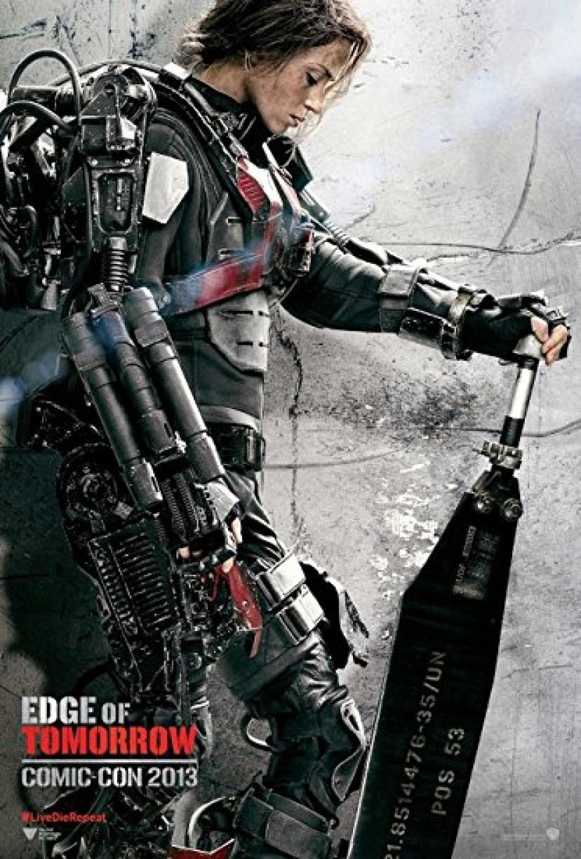 "Edge of Tomorrow (2014) - Emily Blunt - Movie Poster Reprint 13"" x 19"" Borderless"