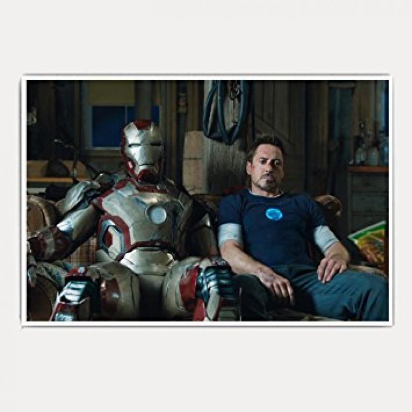 postergali multi color iron man vs tony stark 250 GSM 18x12 inch poster