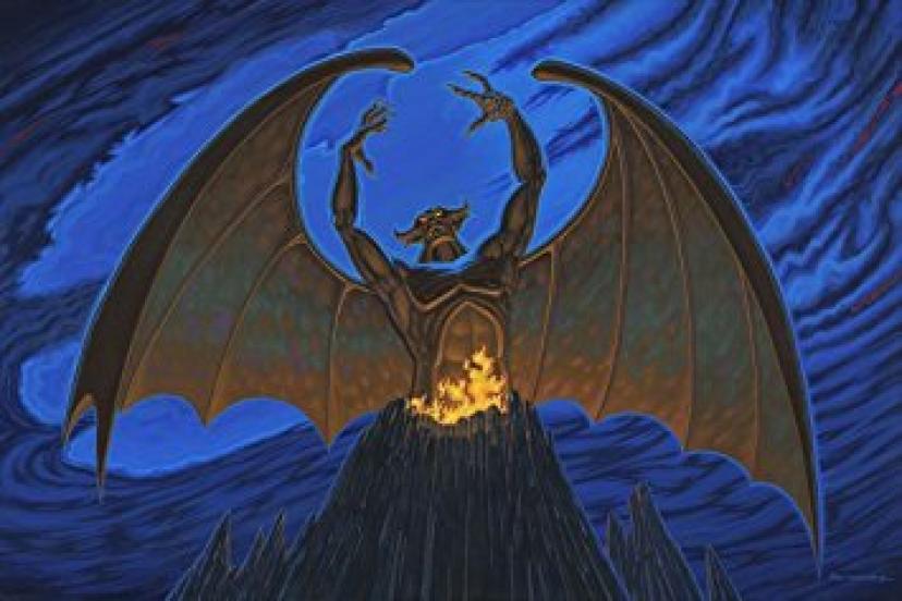 Manuel Hernandez Night on Bald Mountain - From Disney Fantasia Disney Art