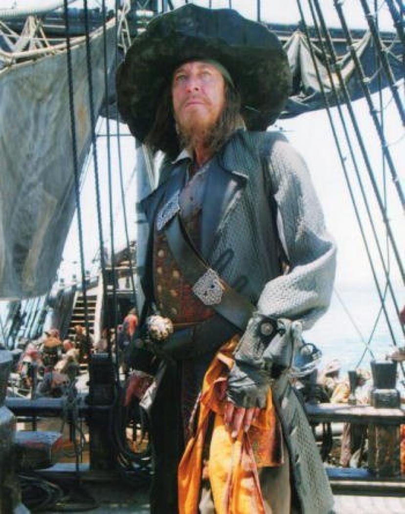 ブロマイド写真★『パイレーツ・オブ・カリビアン3』船に乗るバルボッサ(ジェフリー・ラッシュ)