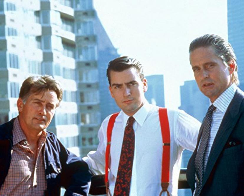 マーティン・シーン、チャーリー・シーン、マイケル・ダグラス『ウォール街』