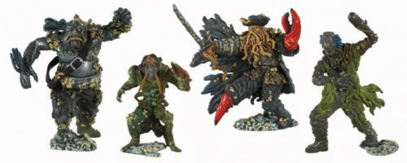 Pirates of the Caribbean: At World's End Flying Dutchman Captain Davy Jones and Crew Action Figure