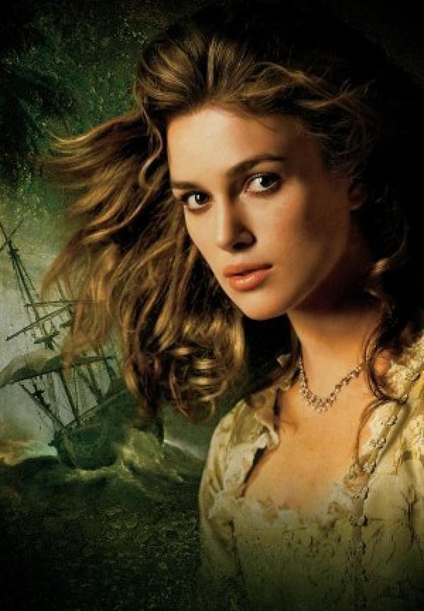 Click to open expanded view PIRATES OF THE CARIBBEAN : DEAD MANS CHEST – Keira Knightley – US Textless Imported Movie Wall Poster Print - 30CM X 43CM Brand New Elizabeth Swann