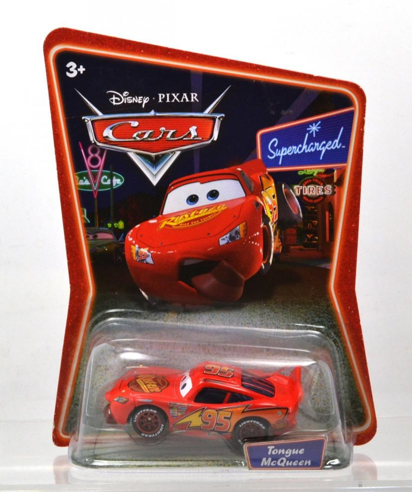 "MATTEL Disney-PIXAR ""CARS"" supercharged ""TONGUE LIGHTNING McQUEEN"" マテル 「カーズ」 スーパーチャージド 「タン ライトニング マックイーン」 舌を出したマックイーン"