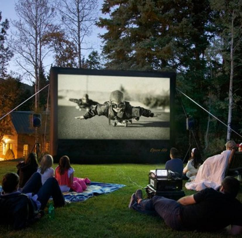OpenAirCinema CBH12 Home Line Cinebox Home 12 x 7 ft. Backyard Theater System