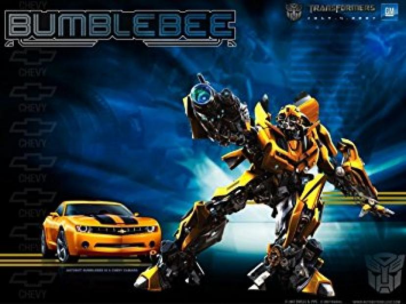 Bumble Bee Bumblebee Transformers Chevy Camaro Birthday Edible Image Photo 1/4 Quarter Sheet Cake Topper Personalized Custom Customized Birthday Party