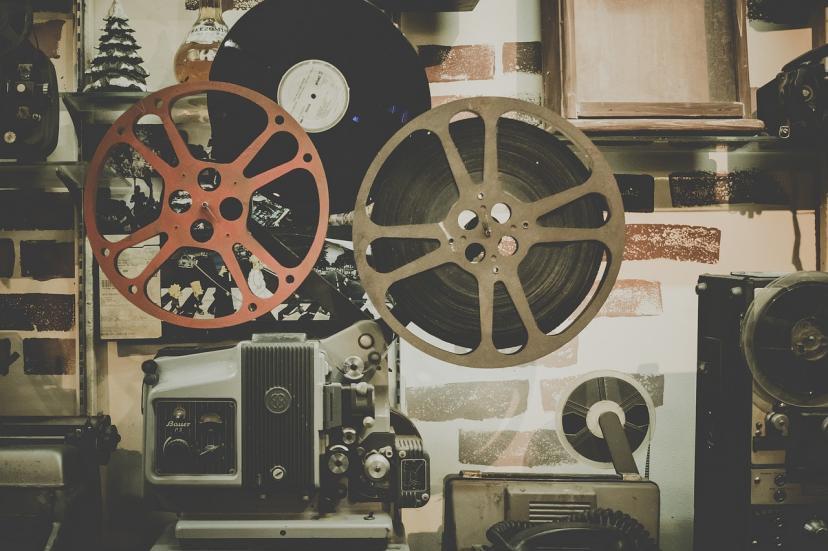 フィルム 映写機 フリー画像