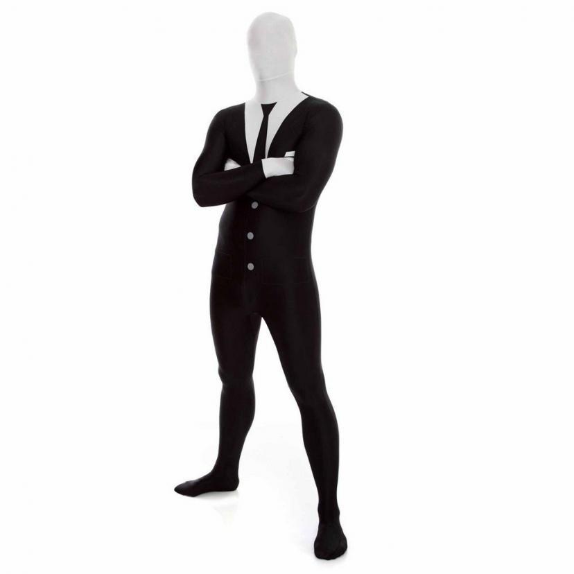 Slender Man Adult Morphsuit スレンダーマン大人用全身タイツ♪ハロウィン♪サイズ:Large