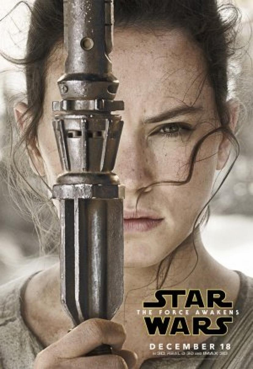 STAR WARS : THE FORCE AWAKENS – Rey - US Imported Movie Wall Poster Print - 30CM X 43CM Brand New Episode 7 VII