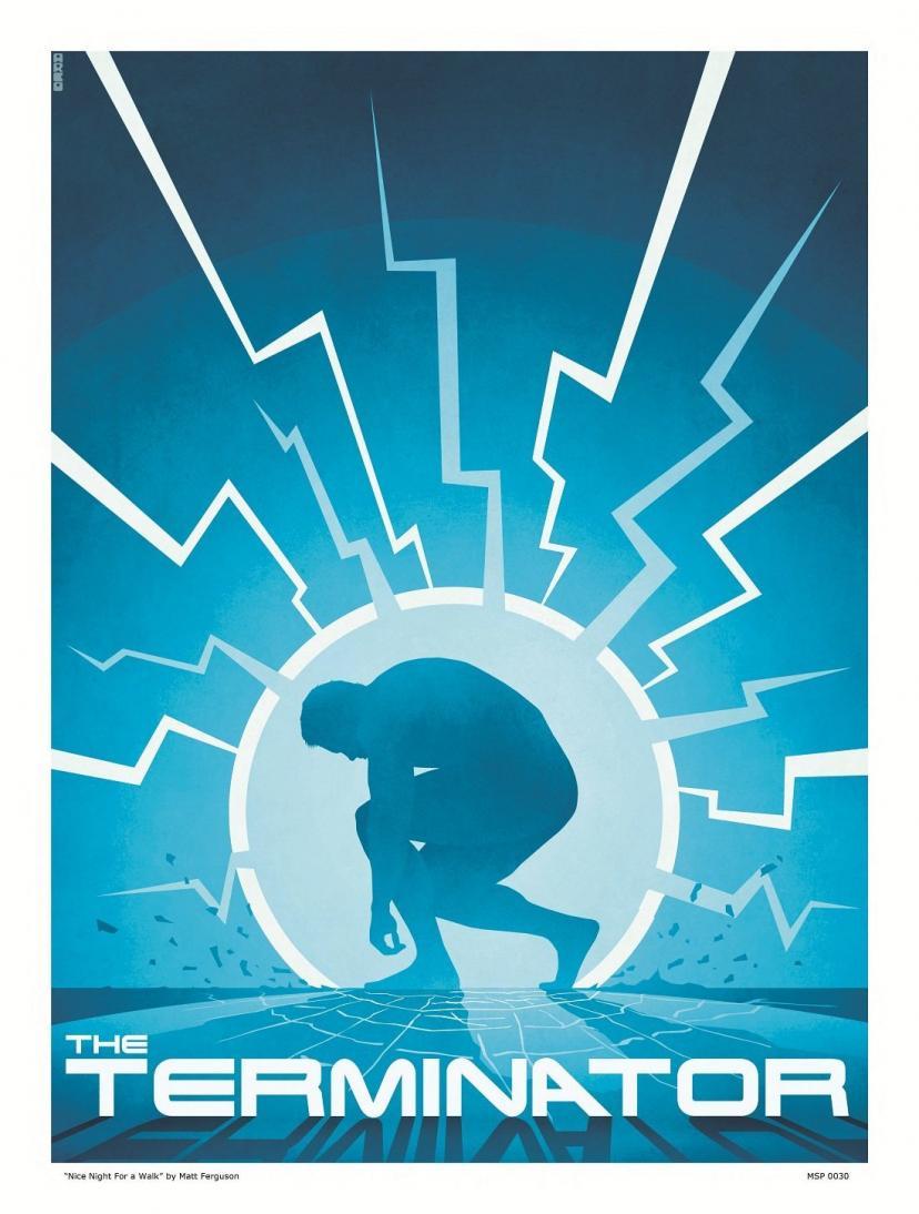 "Terminator ""nice night for a walk"" Art Poster Print by Matt Ferguson (MSP 0030)"