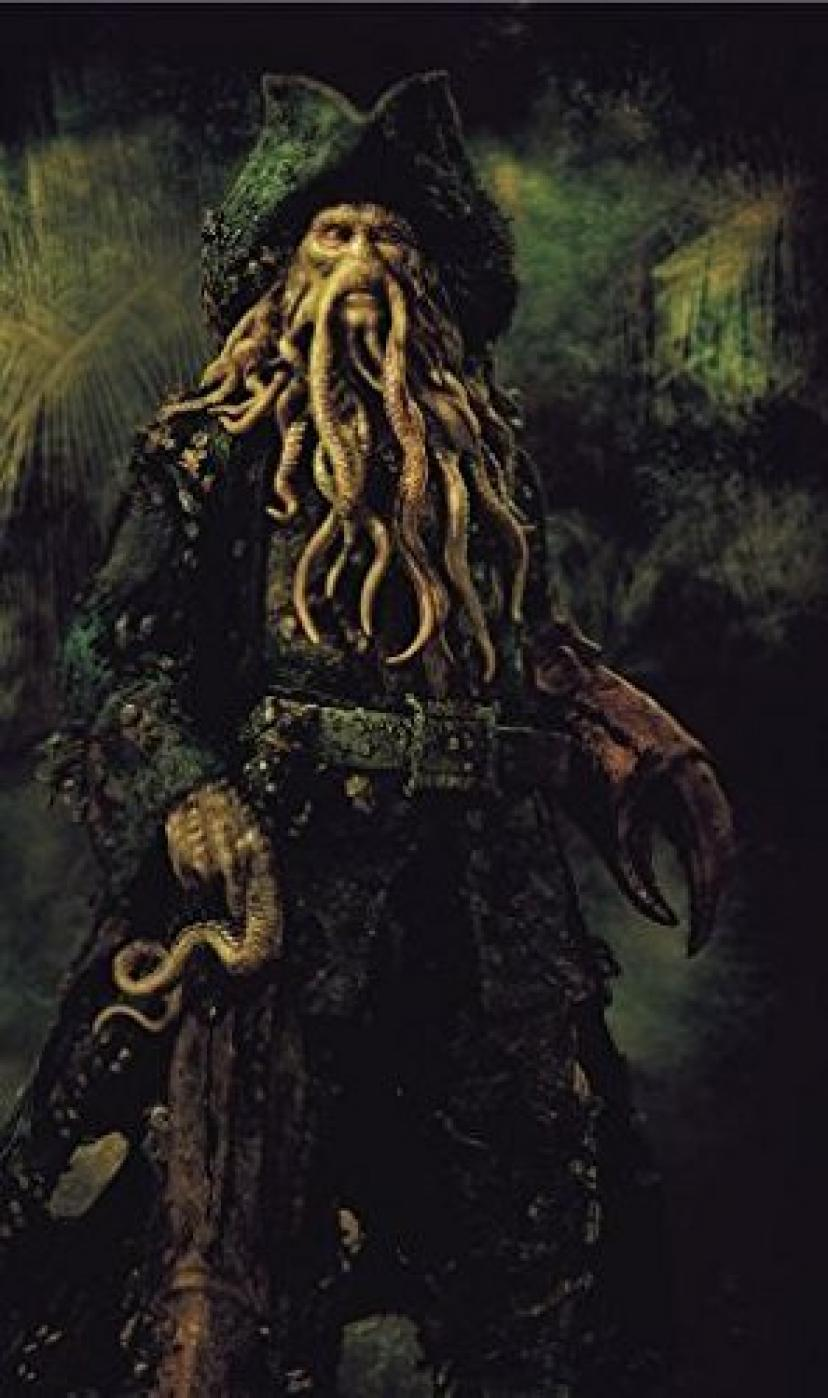 PIRATES OF THE CARIBBEAN : DEAD MANS CHEST – Davy Jones – US Textless Imported Movie Wall Poster Print - 30CM X 43CM Brand New