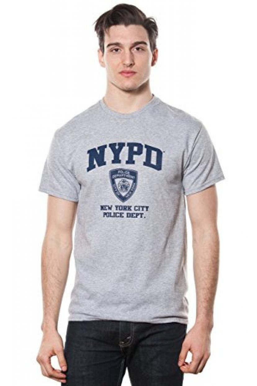 Mens Grey Nypd Original Printed Tee