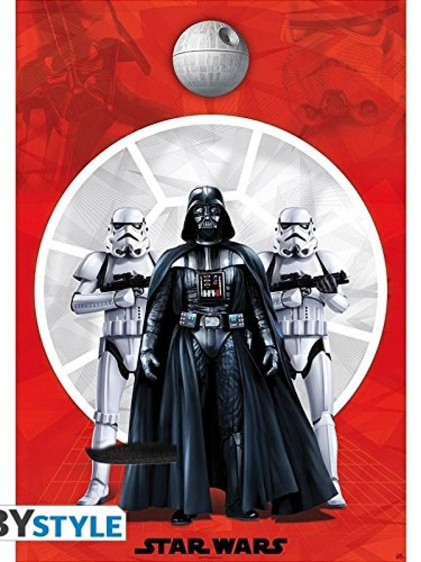 スターウォーズのポスターダースベイダー&ストームトルーパー2(98x68)STAR WARS Poster Darth Vader & 2 Stormtroopers (98x68)