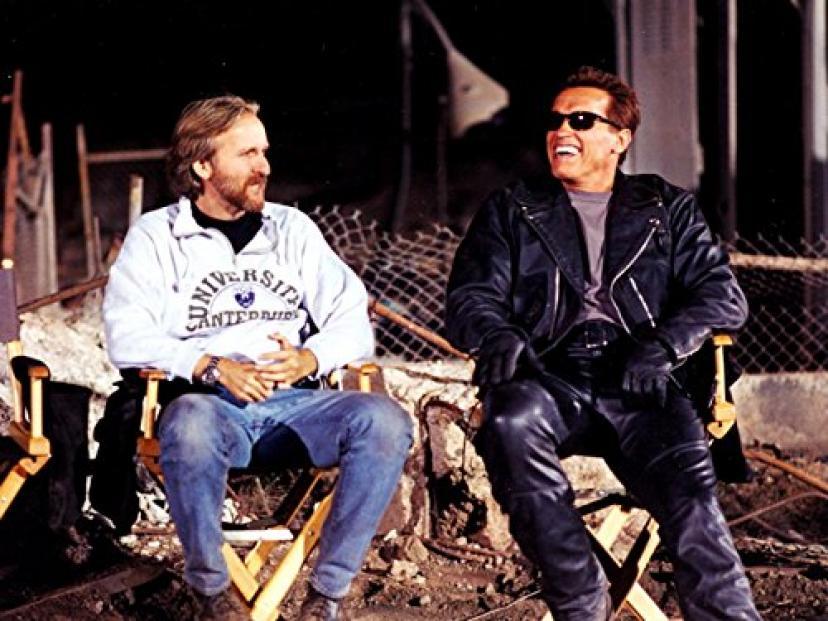 The Terminator Arnold Schwarzenegger Behind the Scenes 24x18 Print Poster