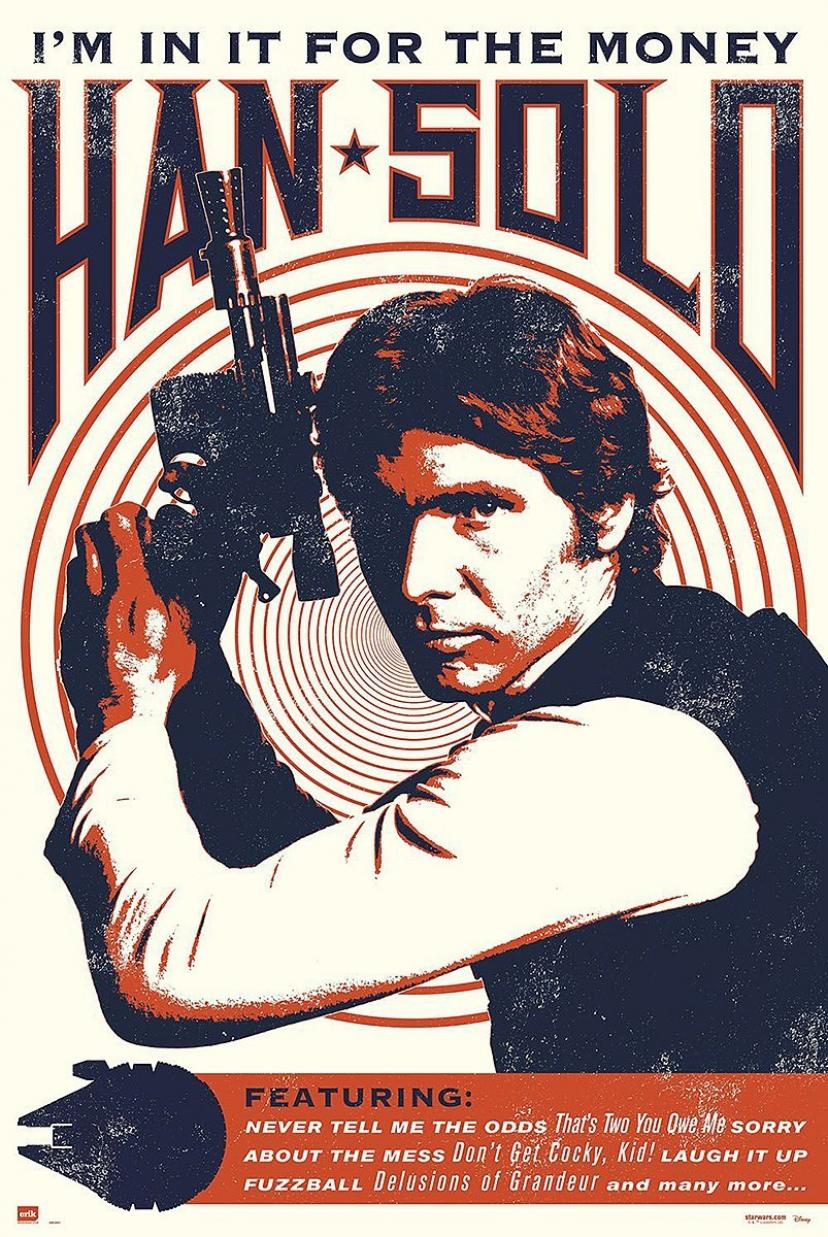 Wars Poster Han Solo Poster - I'm in it for the money (61cm x 91,5cm)