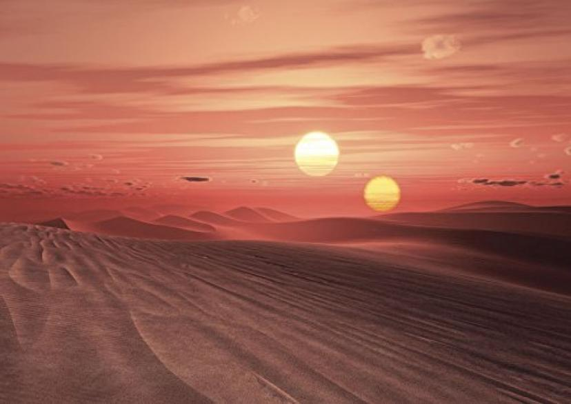 JP London MD4178PS Peel and Stick Jedi Star Tatooine Two Sun Wars Sunset Empire Removable Full Wall Vinyl Free Mural, 12-Feet by 8.5-Feet [並行輸入品]