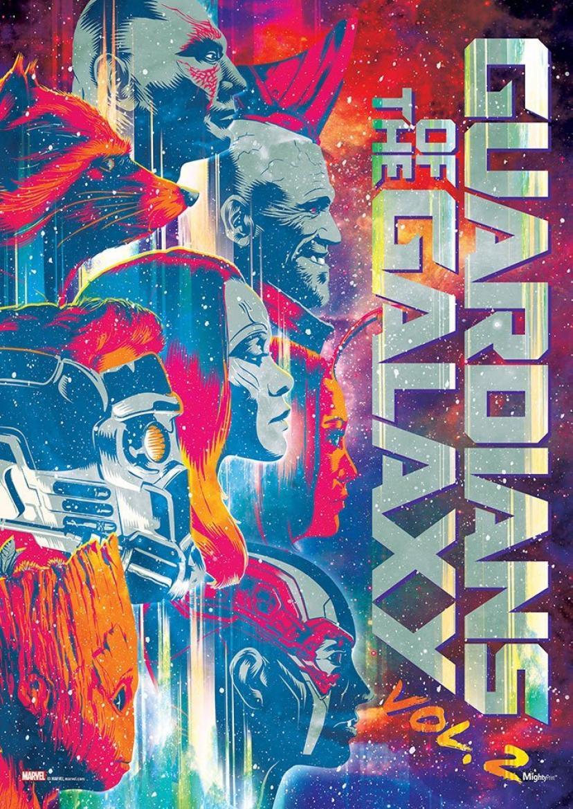 ガーディアンズオブギャラクシー:リミックス (Tri-tone Title) マイティプリントウォールアートネクストジェネレーションプレミアムポスター