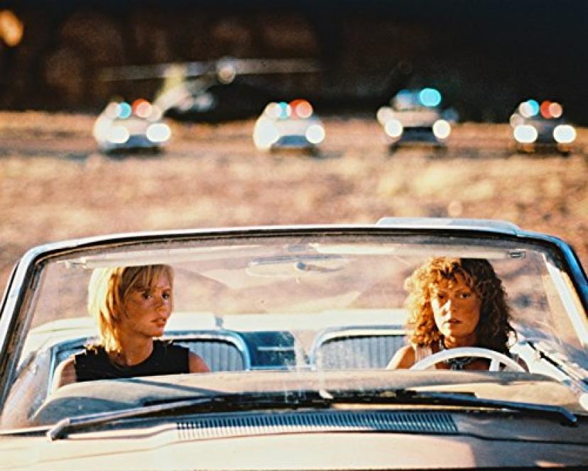 Geena Davis Susan Sarandon Thelma & Louise 16x20 Canvas Thunderbird Police Cars