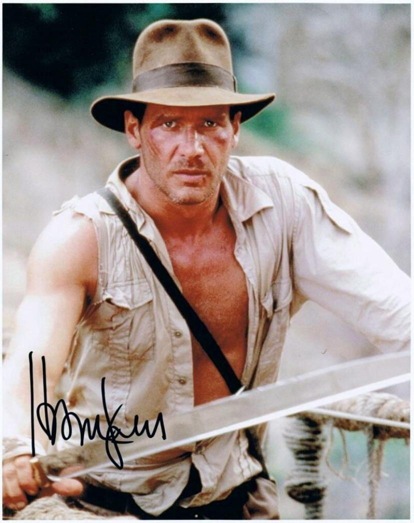 Harrison Ford, Indiana Jones 8 X 10 Photo Display Autograph on Glossy Photo Paper