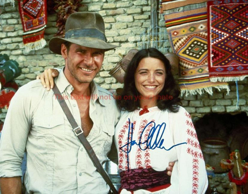 Indiana Jones and the Kingdom of the Crystal Skull Karen Allen Autographed 11x14 Poster Preprint Photo