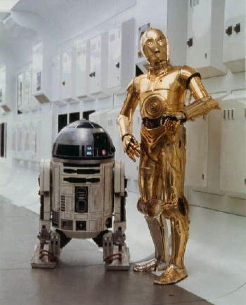 ブロマイド写真★『スター・ウォーズ』R2-D2 & C-3PO/艦内