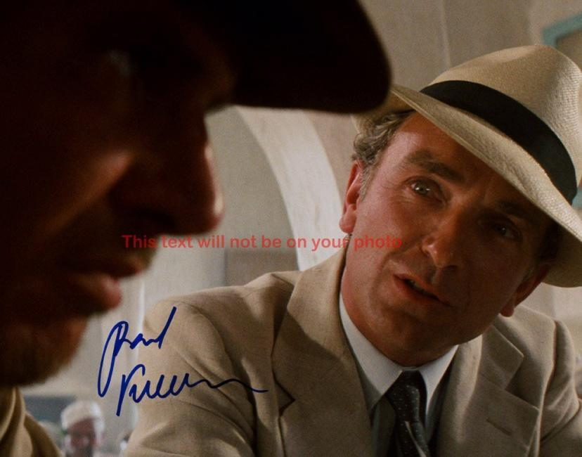 Indiana Jones and the Raiders of the Lost Ark Paul Freeman Autographed 11x14 Poster Preprint Photo