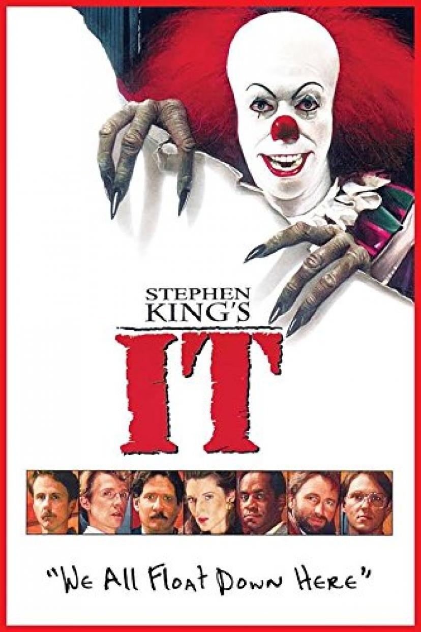 Stephen Kings - IT - 1990 36x24 Classic Horror TV Show Movie Art Print Poster We all Float Down Here