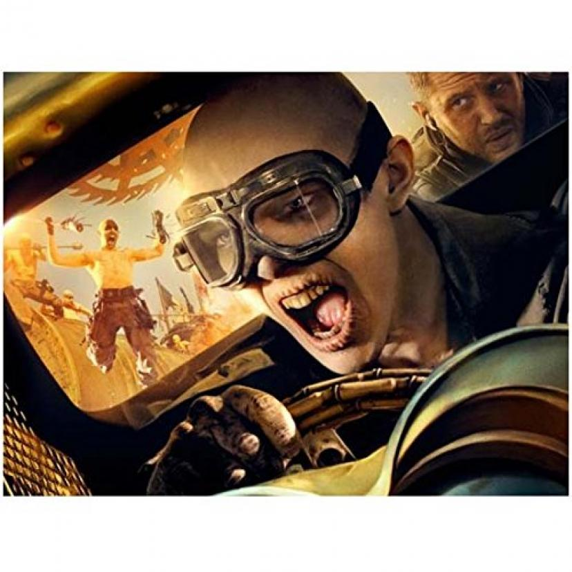 Nicholas Hoult As Nux in Car with Tom Hardy As Max Looking in 8 X 10 Inch Photo