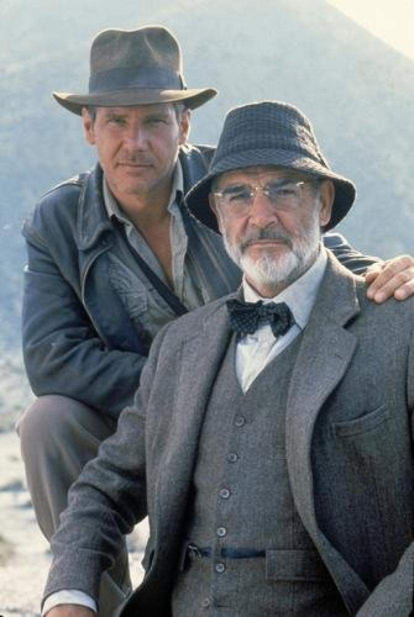 (11x17) Indiana Jones and the Last Crusade - Sean Connery and Harrison Ford Movie Poster