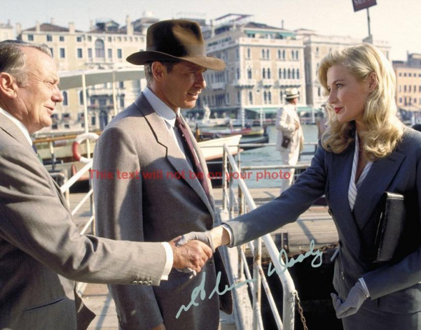 Indiana Jones and the Last Crusade Alison Doody Autographed 11x14 Poster Preprint Photo