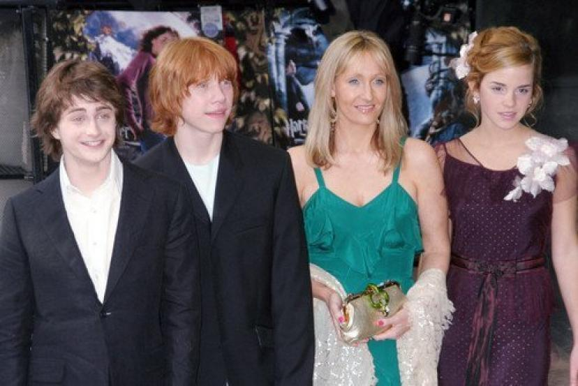 Harry Potter Cast at Premiere 11x17 Mini Poster with J.K. Rowling Daniel Radcliffe...