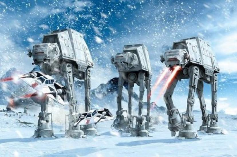 Star Wars Poster - AT-AT Walkers In The Frozen Hoth Landscape 24x36 Poster
