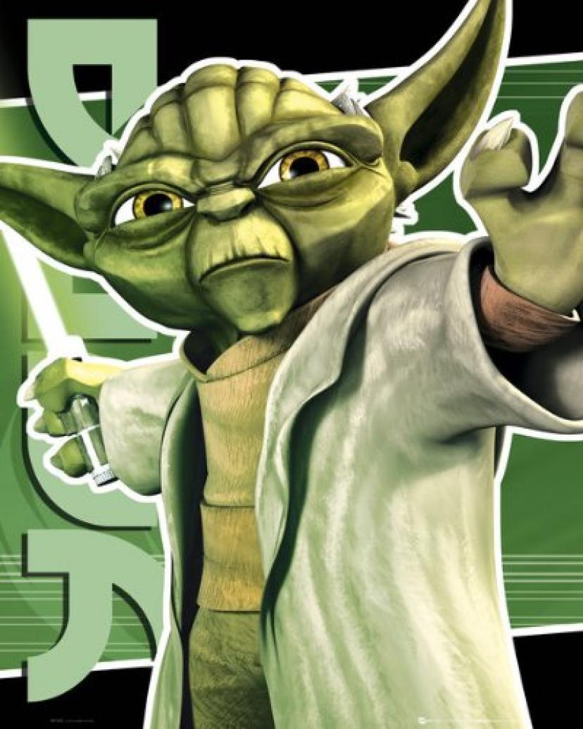 Clone Wars - Yoda Poster - 50x40cm[ヨーダ]