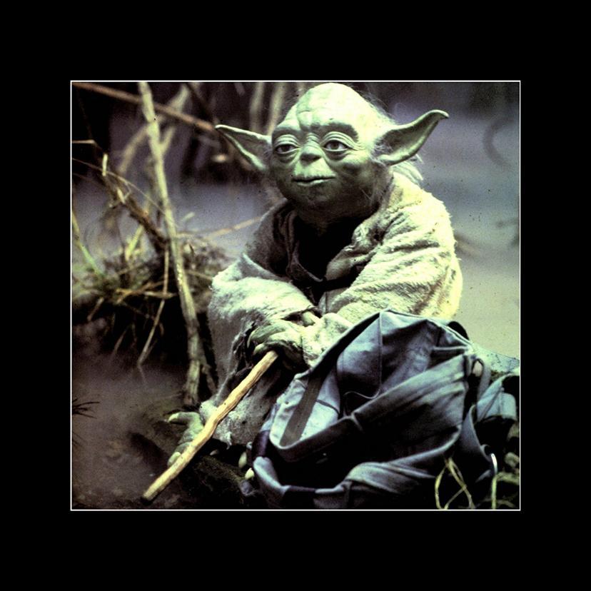 Star Wars - The Empire Strikes Back - Jedi Master Yoda Supervises Lukes Training Mini Poster - 40x40cm[ヨーダ]