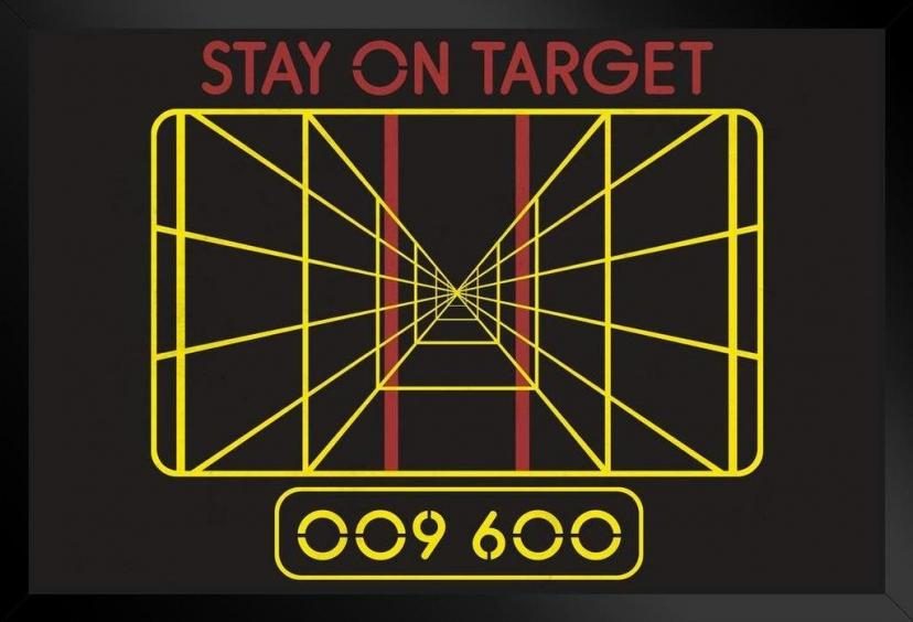 ProFrames Stay On Target Targeting Computer Movie Framed Poster 12x18