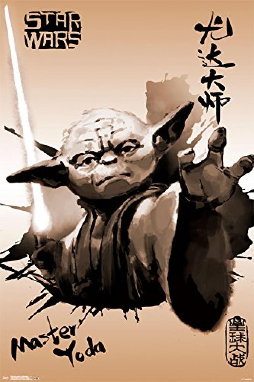 """トレンド国際Star Wars Yoda Painting Collector 's Edition壁ポスター24 """" x 36 """"[ヨーダ]"""
