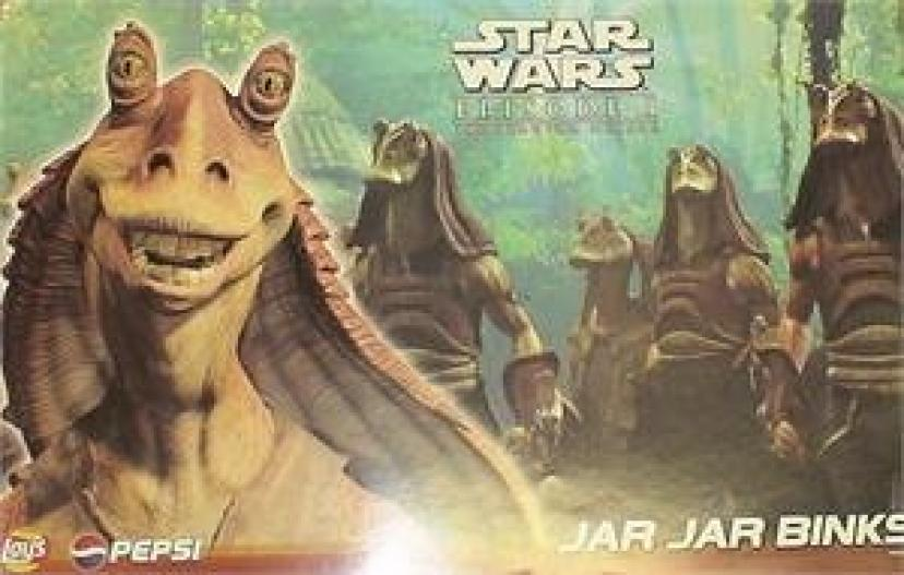 STAR WARS EPISODE 1: JAR JAR BINKS PEPSI & FRITO LAY PROMOTIONAL POSTER【スターウォーズ/ジャージャービンクス】