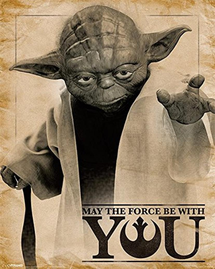 "Star Wars Yoda Poster ""May the Force be with You"" (40cm x 50cm)[ヨーダ]"