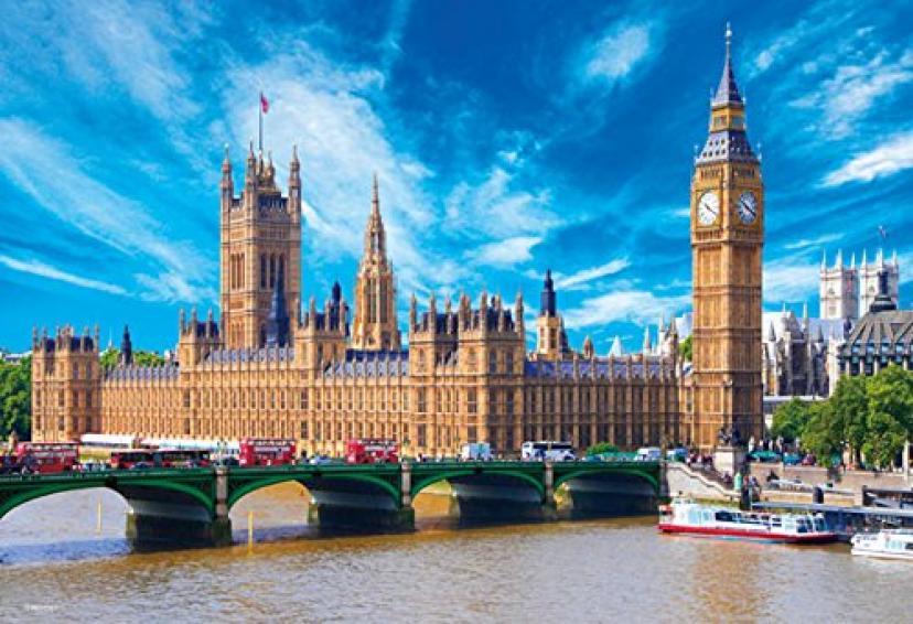 世界極小1000マイクロピース ジグソーパズル 世界遺産 ウエストミンスター宮殿~ビッグベン(イギリス)~(26x38cm)