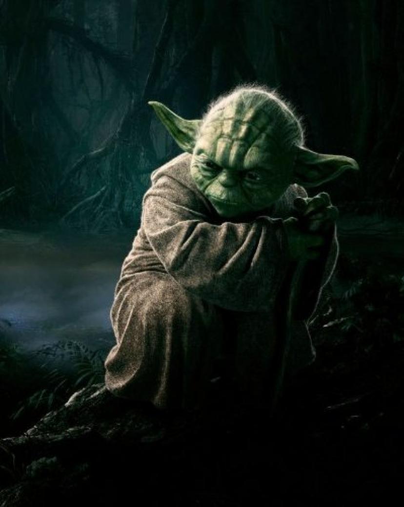 8 x 10ポスター印刷光沢Return of the Jedi Yoda[ヨーダ]