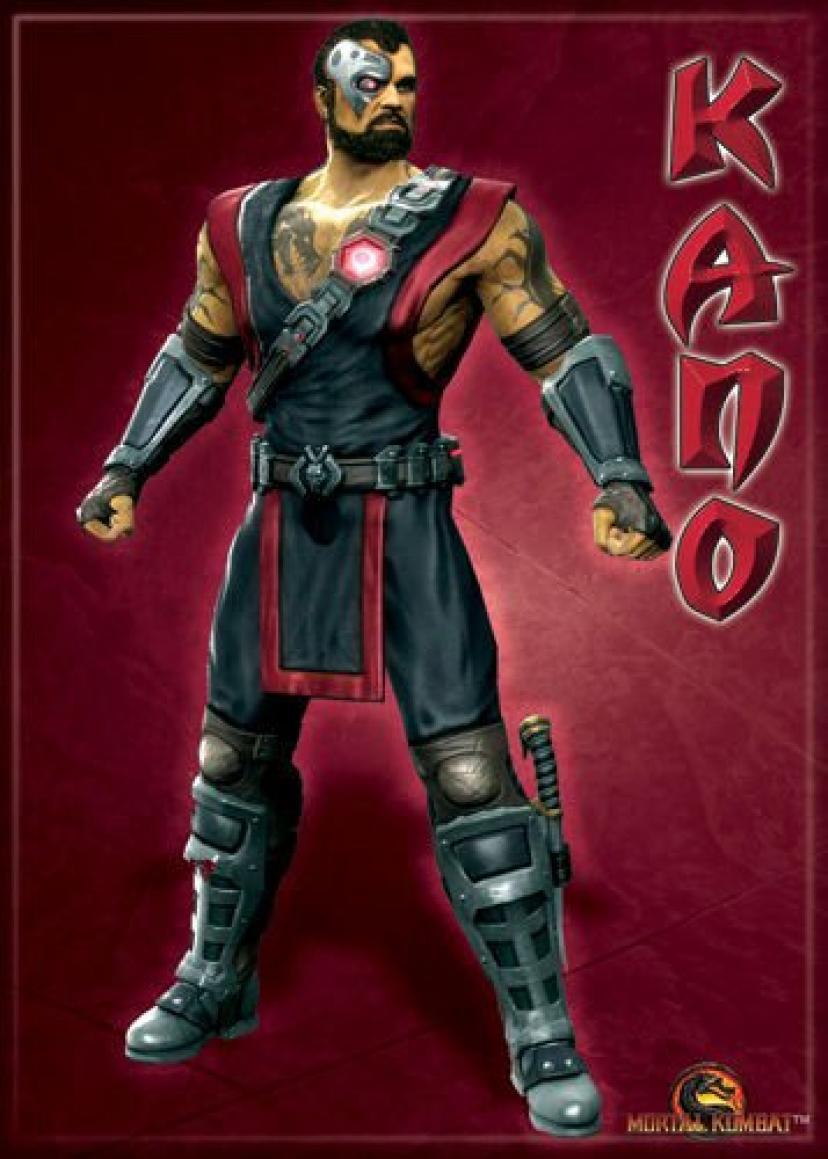 Mortal Kombat - Kano - Refrigerator Magnet