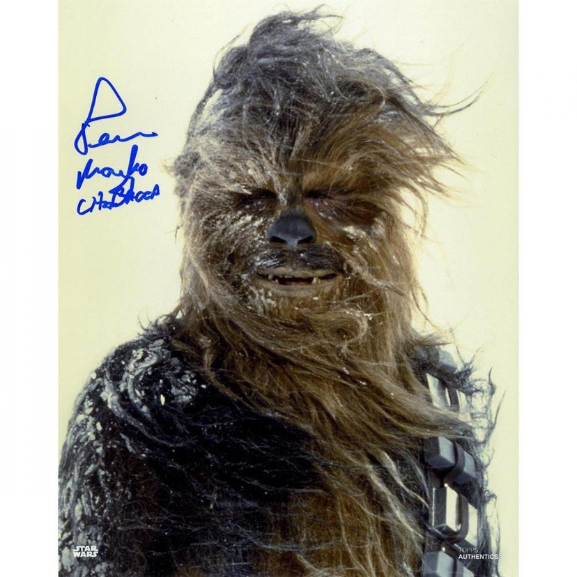 Steiner Sports Peter Mayhew Signed 'Chewbacca in the Snow' Vertical 8x10 Photo(チューバッカ)