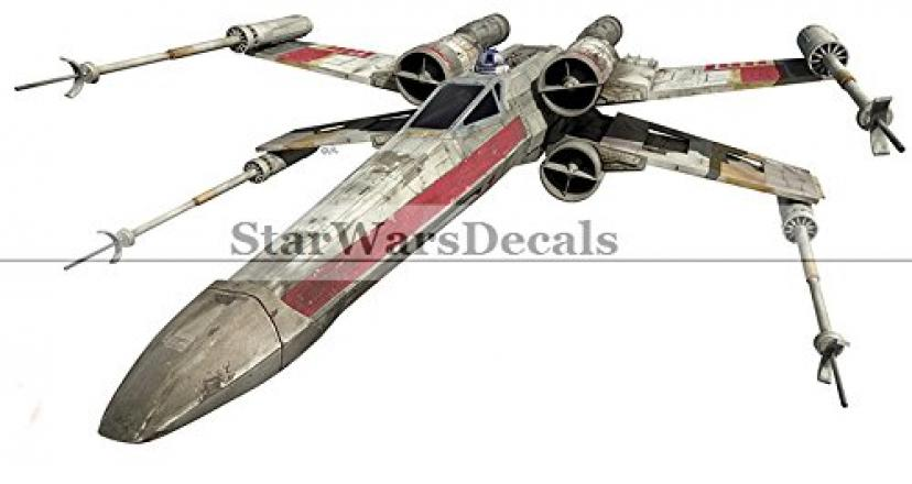 10 Inch Rebel Alliance X Wing XWing Fighter Star Wars Classic Episode IV Removable Wall Decal Sticker Art Home Decor Kids Room-10 1/4 Inches Wide By 5 Inches Tall