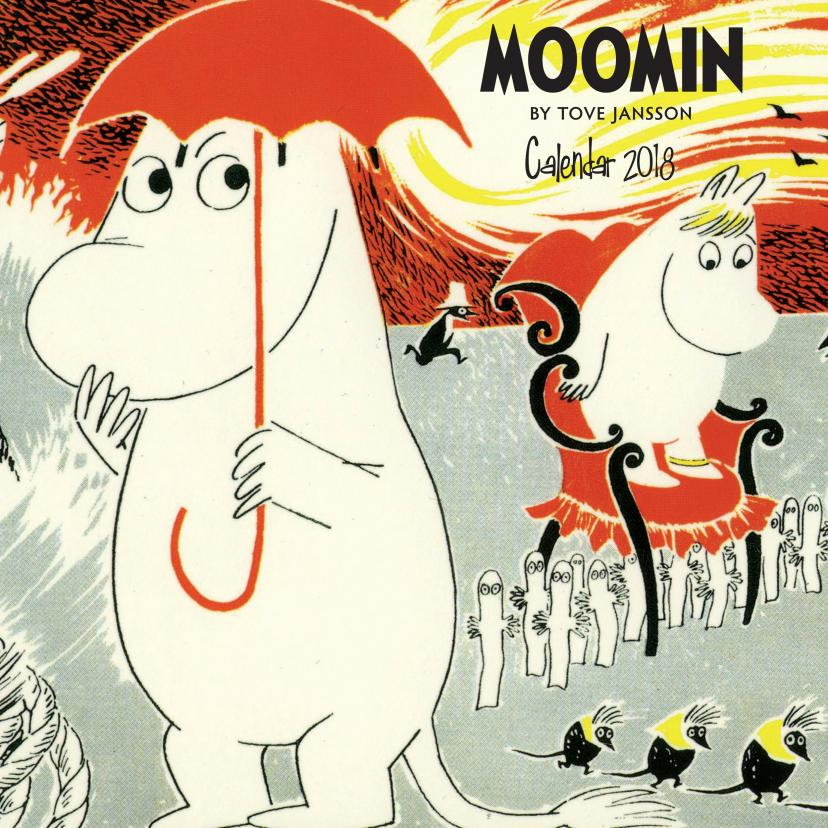 Moomin by Tove Jansson Wall Calendar 2018 (Art Calendar) (英語) カレンダー – 2017/2/22[ムーミン]